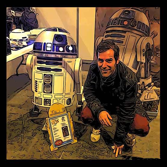 R2D2 sobre mí
