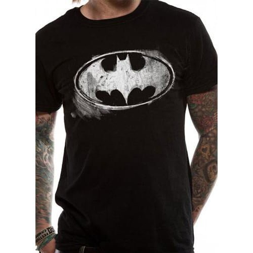 camiseta batman dc comics logo distressed