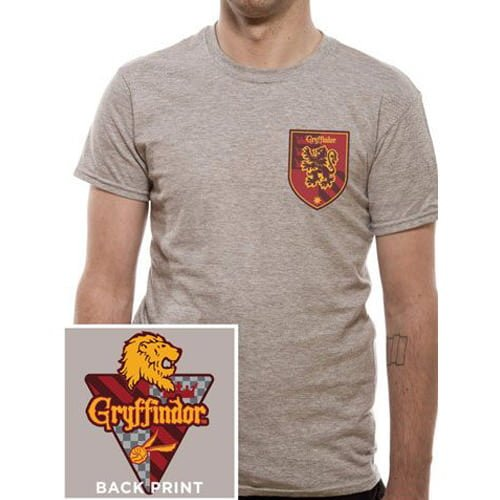 camiseta harry potter gryffindor chico escudo