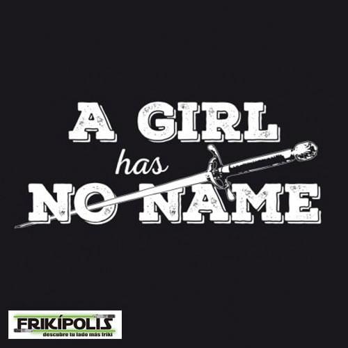 camiseta juego de tronos logo una chica no tiene nombre