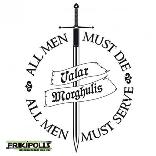 camiseta juego de tronos chica valar morghulis logo