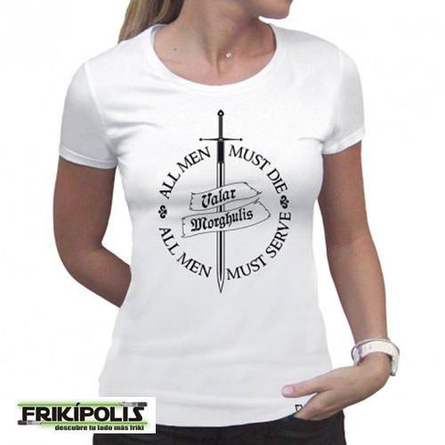 camiseta juego de tronos chica valar morghulis