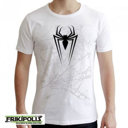 camiseta marvel spiderman logo telaraña