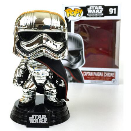 funko capitana phasma version chrome edición limitada