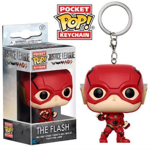 llavero mini funko liga de la justicia flash