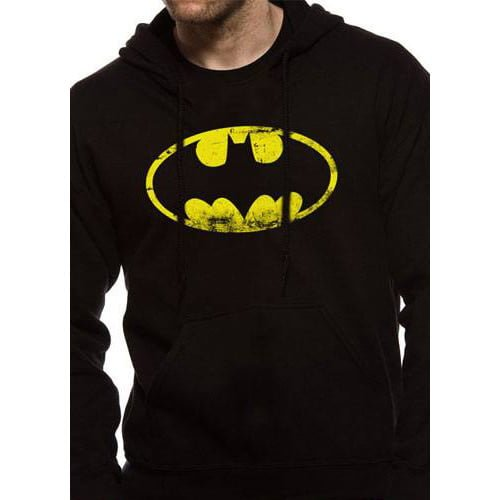 sudadera batman con capucha dc comics logo