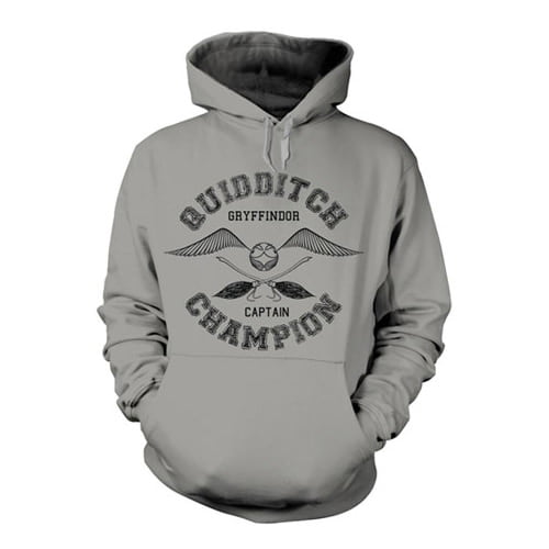 sudadera harry potter quidditch gris
