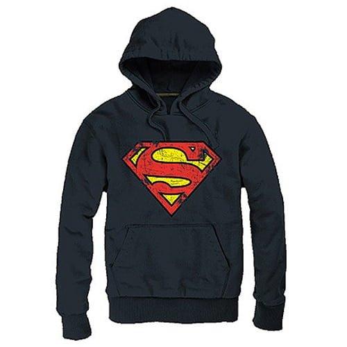 sudadera superman logo con capucha dc comics