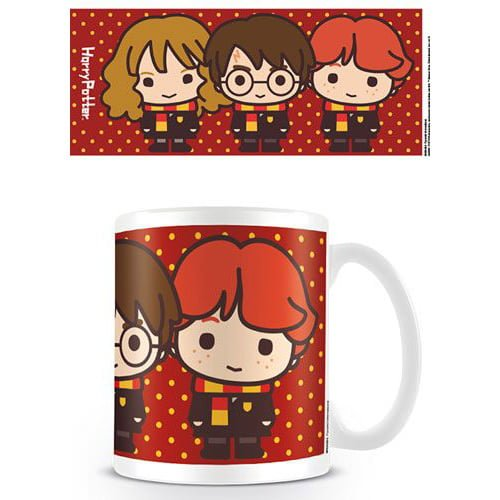 taza harry potter kawai ron hermione y harry