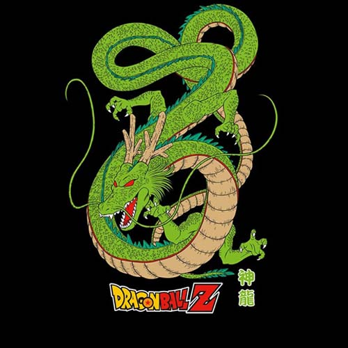 camiseta dragon ball shenron negro