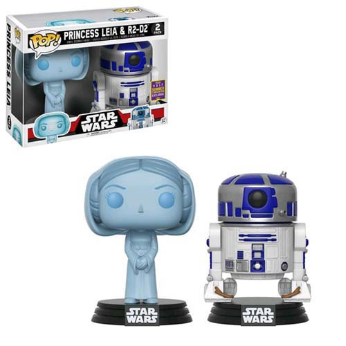 pack funko star wars leia y r2 d2