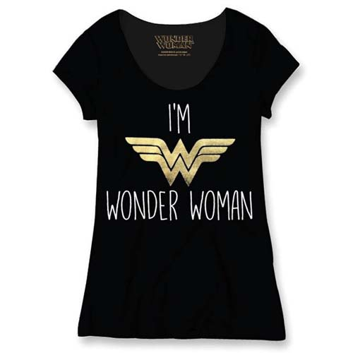 camiseta wonder woman negra