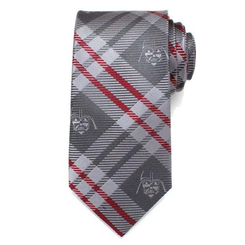 corbata star wars darth vader gris y rojo