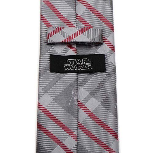 corbata star wars darth vader rojo y gris
