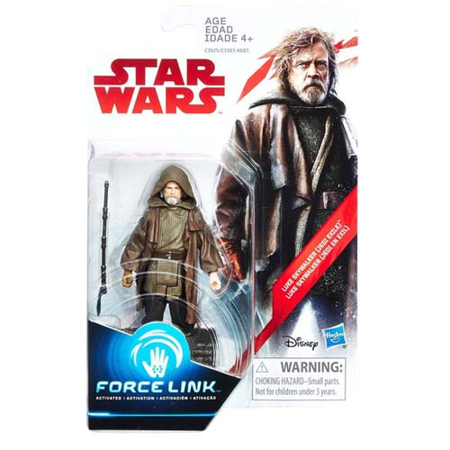figura star wars luke skywalker force link