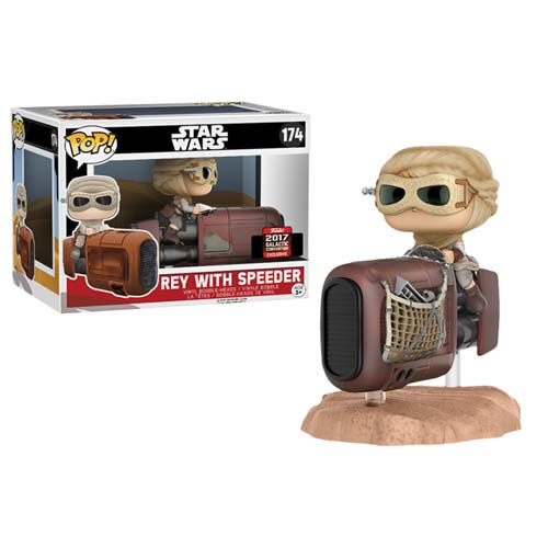 funko pop star wars rey con speeder