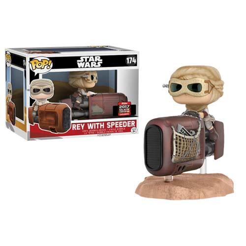 funko pop star wars rey con speeder
