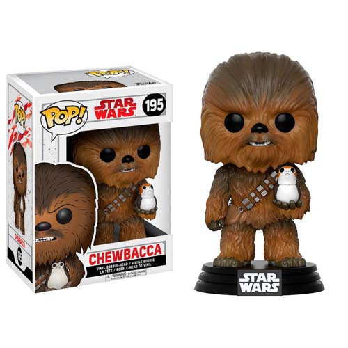 funko pop star wars chewbacca con porg