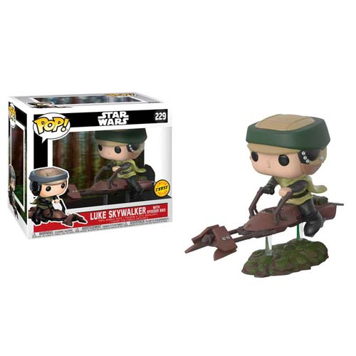 funko pop star wars luke con speeder bike chase