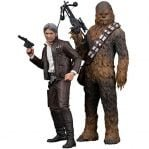 pack 2 figuras star wars han solo and chewbacca