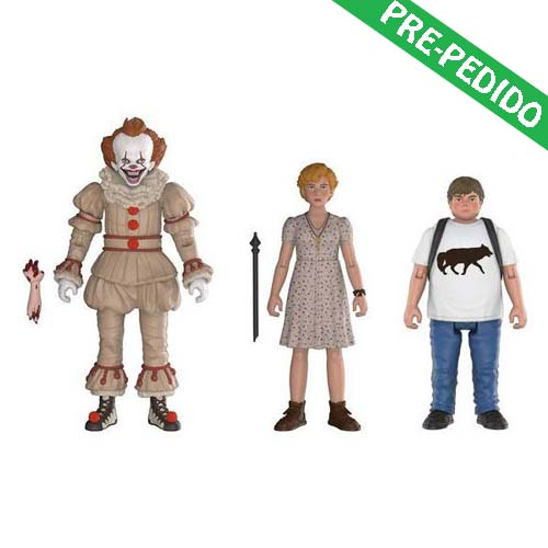 pack 3 figuras it pennywise ben y beverly