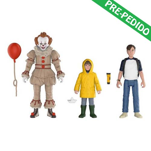 pack 3 figuras it pennywise, georgie y Bill