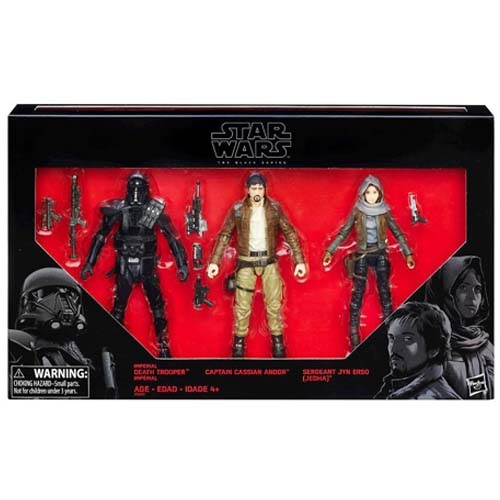 pack 3 figuras star wars black series rogue one
