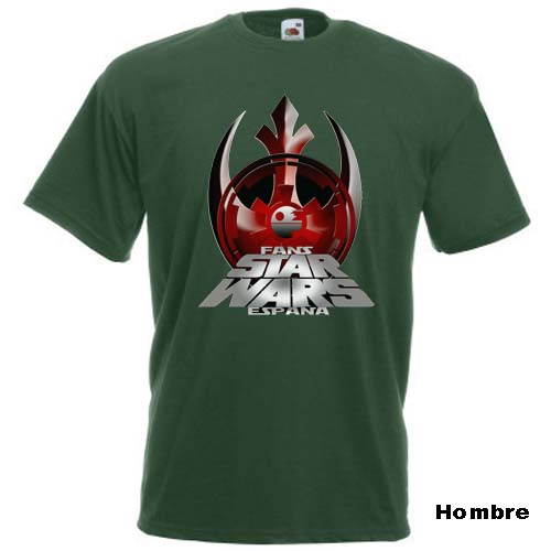 camiseta fans star wars españa verde hombre