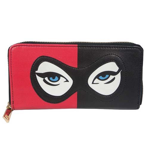 cartera monedero harley quinn dc comics eyes