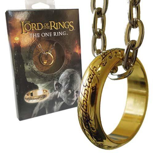 collar anillo único el señor de los anillos