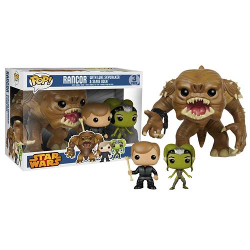 pack funko pop rancor luke y oola star wars