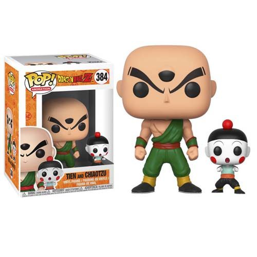 pack funko pop ten shin han y chaoz dragon ball