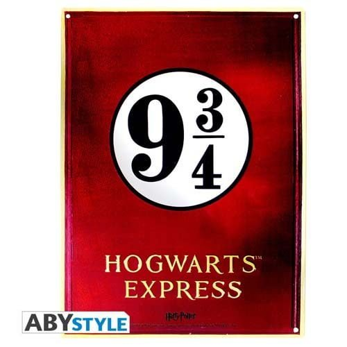 placa de metal anden 9 y 3/4 harry potter