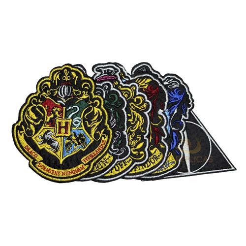 set de parches hogwarts y sus casas