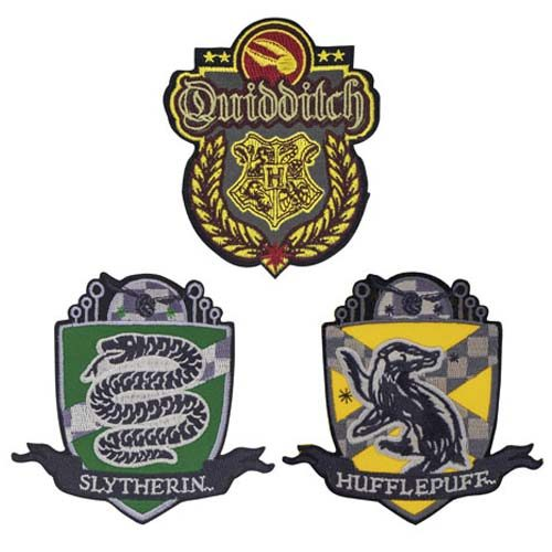 set de parches quidditch harry potter