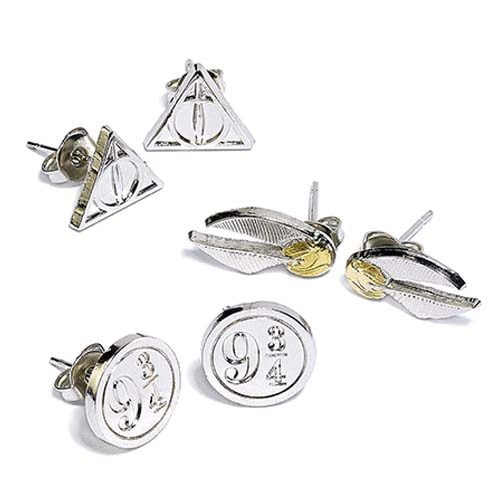 set de 3 pendientes harry potter