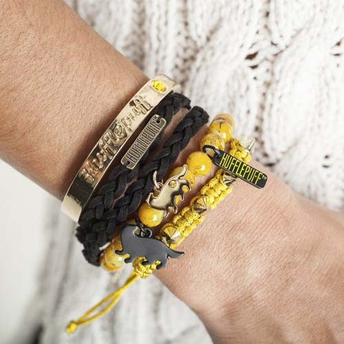 set de pulseras harry potter hufflepuff