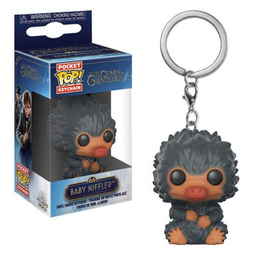 llavero funko pop baby niffler gris animales fantasticos 2 harry potter
