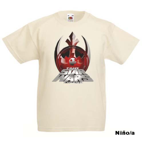 camiseta fans star wars españa beige niño y niña
