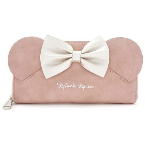 cartera rosa lazo minnie disney