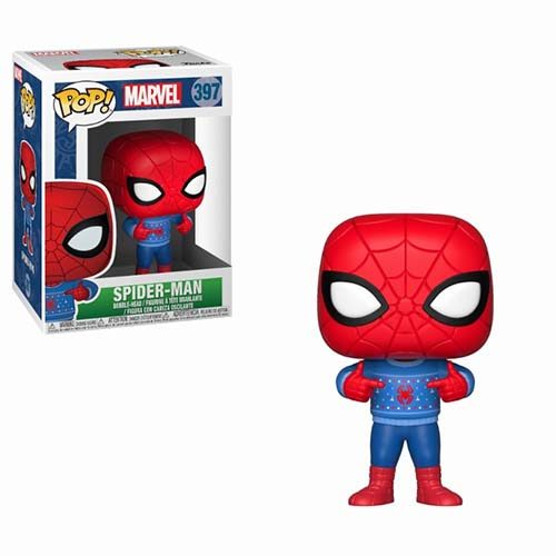 funko pop spiderman jersey navidad marvel