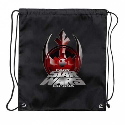 mochila cuerda negra fans star wars españa