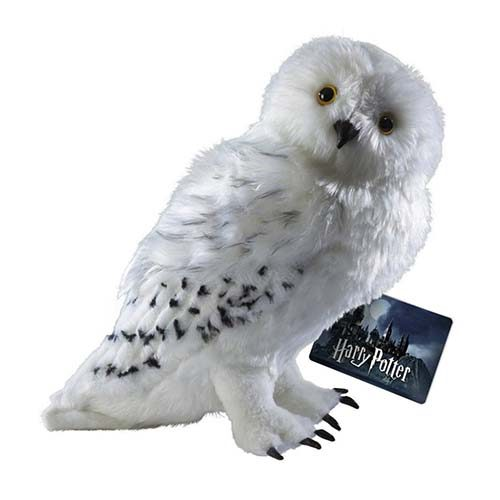 peluche 30cm hedwig harry potter