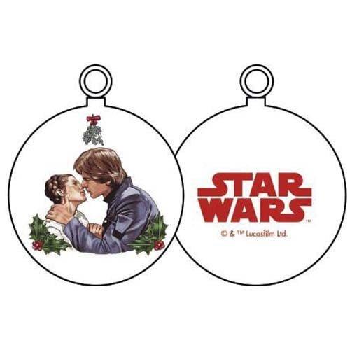 bola de navidad han y leia beso star wars