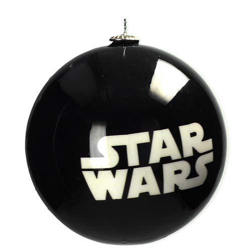 bola de navidad star wars logo blanco