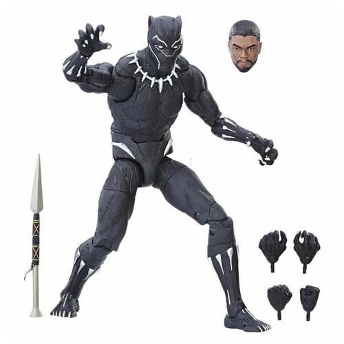 figura black panther marvel legends 30 cm