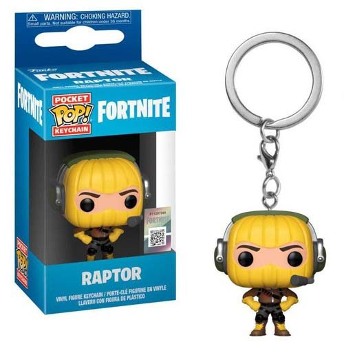 llavero funko raptor fortnite