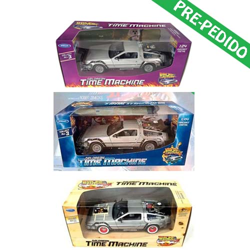 pack 3 delorean regreso al futuro
