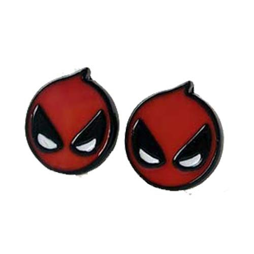 pendientes boton deadpool marvel