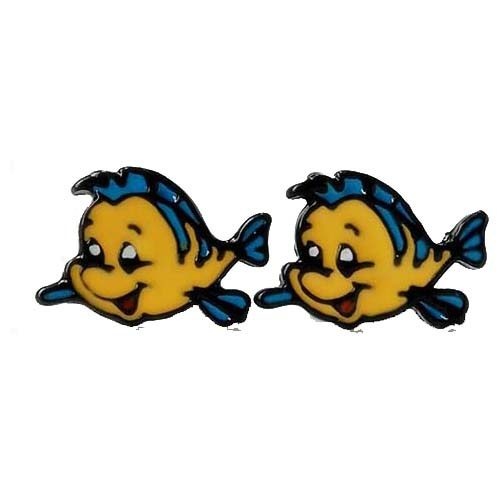pendientes flounder sirenita disney